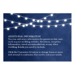 Summer String Lights Wedding Insert Card Large Business Cards (Pack Of 100)
