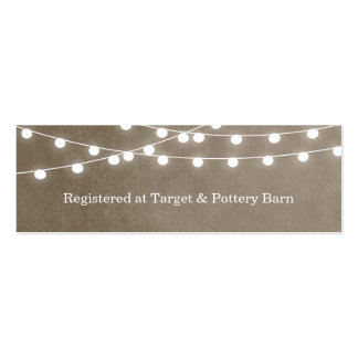 Summer String Lights Wedding Insert Card Mini Business Card