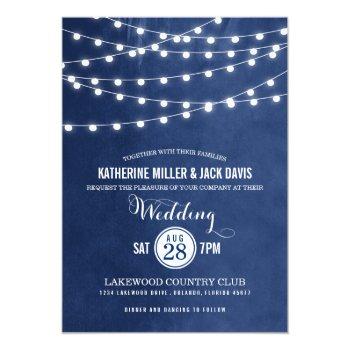 Summer String Lights Wedding Invitation by rileyandzoe at Zazzle