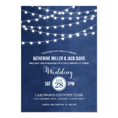 Summer String Lights Wedding Invitation at Zazzle