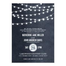 Summer String Lights Wedding Invitation at Zazzle