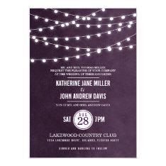 "Summer String Lights Wedding Invitation 5"" X 7"" Invitation Card at Zazzle"