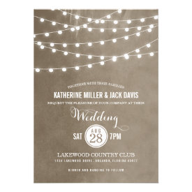 Summer String Lights Wedding Invitation
