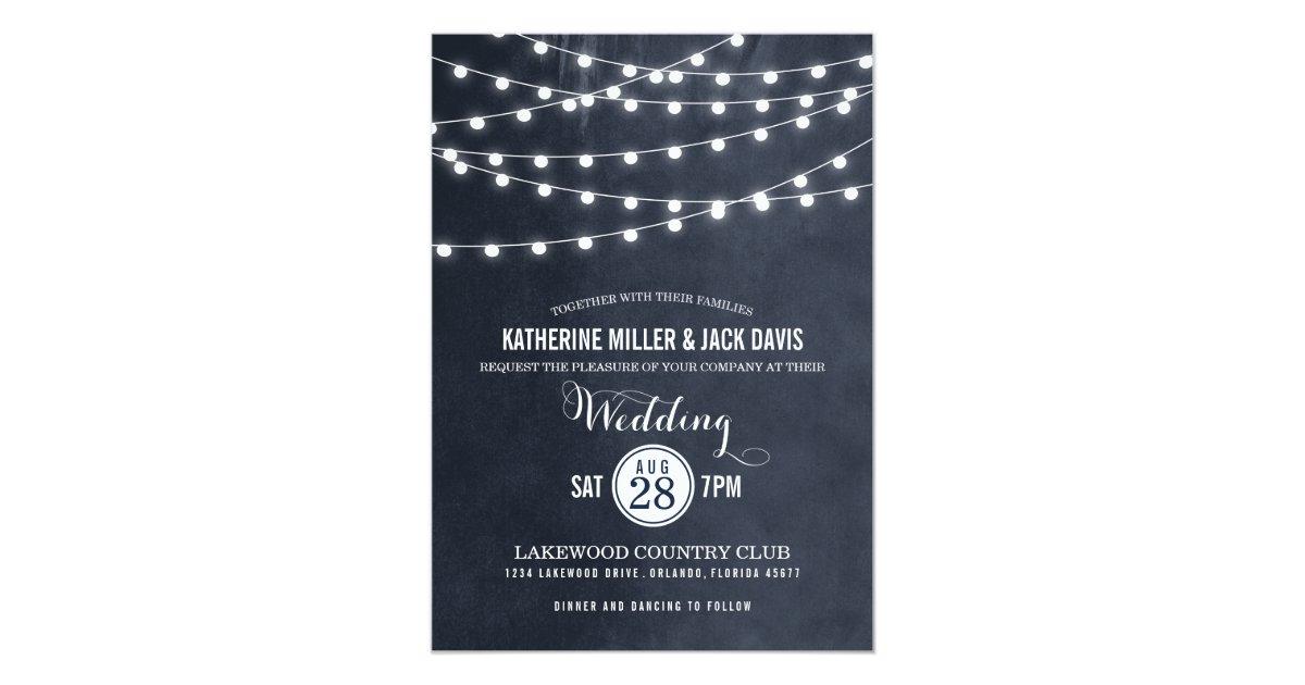 Summer String Lights Wedding Invitation Zazzle