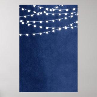 Summer String Lights Wedding Sign