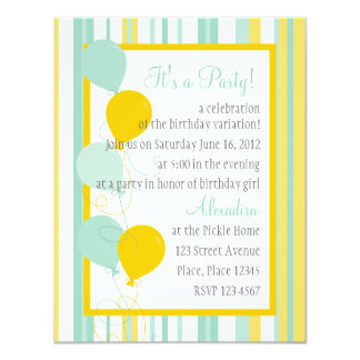 Summer Stripes and Balloons Card
