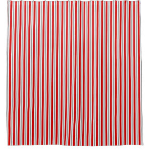 Red And White Stripes Shower Curtains