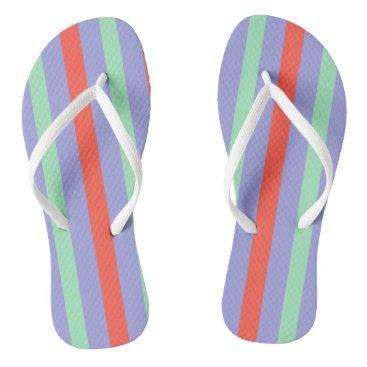 Beach Themed Summer stripes flip flops