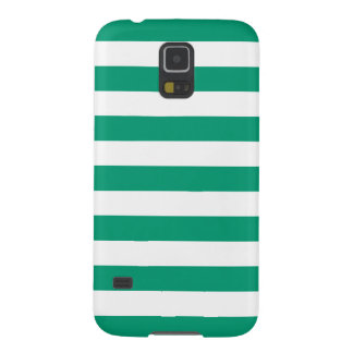 Summer Stripes Galaxy S5 Case in Emerald Green