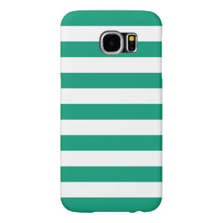Summer Stripes Galaxy S6 Case in Emerald Green