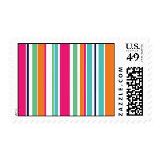 Summer Stripes Postage Stamps