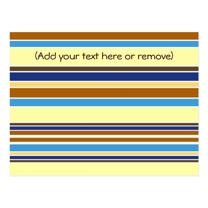 Summer Stripes Postcard
