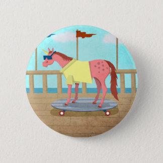 Summer Stroll Unicorn Pinback Button