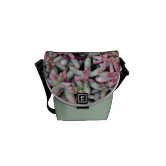 Summer Succulent Natural Pattern Courier Bag