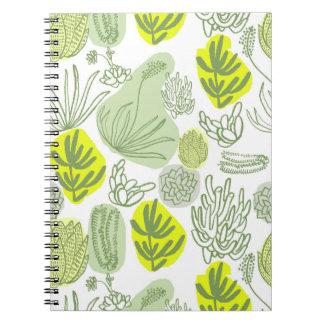 Summer Succulent Spiral Notebook