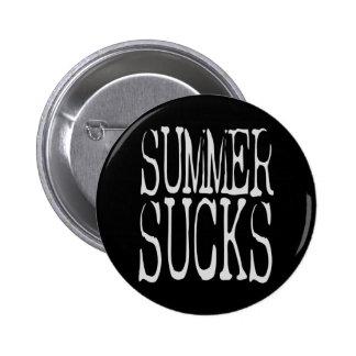 Summer Sucks 2 Inch Round Button