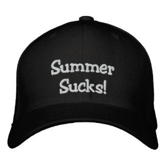 """Summer Sucks!"" Black Sledders.com FlexFit Hat"