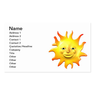 Summer Sun 2 Double-Sided Standard Business Cards (Pack Of 100)
