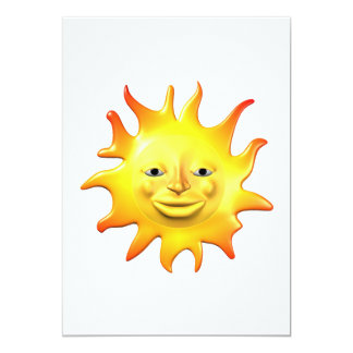 Summer Sun 2 5x7 Paper Invitation Card