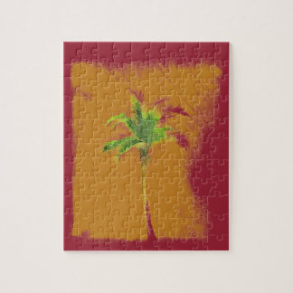 Summer, sun and palm jigsaw puzzle