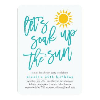 Summer Sun Beach Party Invitation