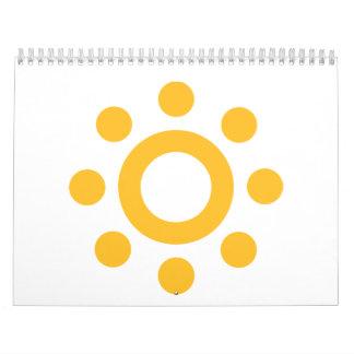 Summer sun calendar