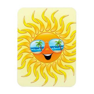 Summer Sun Cartoon with Sunglasses Magnet