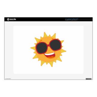 "Summer Sun Decal For 15"" Laptop"
