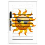 Summer Sun funny Dry Erase Board
