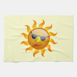 Summer Sun funny Kitchen Towels
