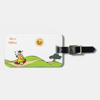 Summer Sun funny Luggage Tag
