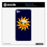 Summer Sun funny Phone Skin Decals For iPhone 4S