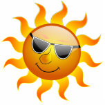 """Summer Sun funny Photo Sculpture<br><div class=""""desc"""">A day is too hot,  and the sun is enjoying the bright and shiny day,  wearing shades.</div>"""