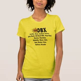 Summer Sun OBX Outer Banks NC and Beach Town Names T-Shirt