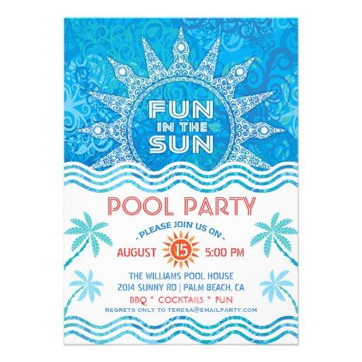 Summer Sun Party Invitation