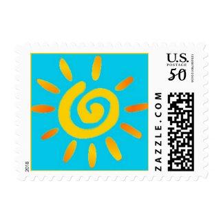 Summer Sun postage stamp