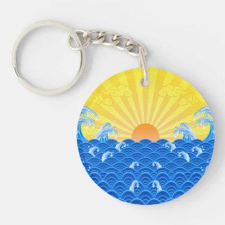 Summer Sun Summer Waves Acrylic Key Chain