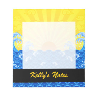 Summer Sun Summer Waves Notepad