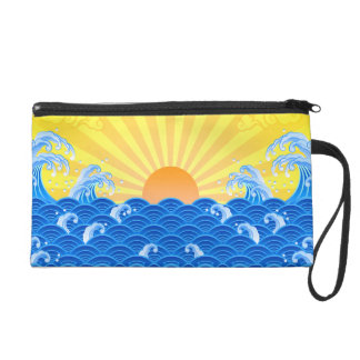 Summer Sun Summer Waves Wristlet Purse