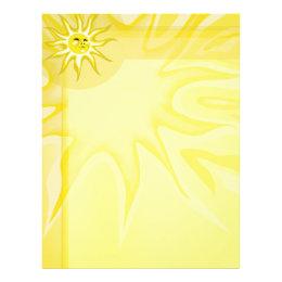 Summer Sun, Sunny Sunshine Letterhead