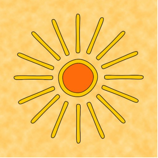 Summer sun. Warm yellow colors. Acrylic Cut Outs
