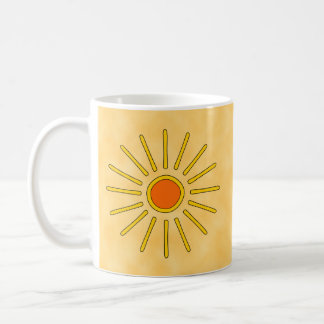 Summer sun. Warm yellow colors. Coffee Mug