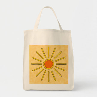 Summer sun. Warm yellow colors. Tote Bags