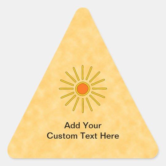 Summer sun. Warm yellow colors. Triangle Sticker