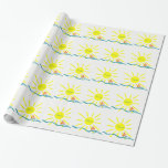 Summer sun wrapping paper