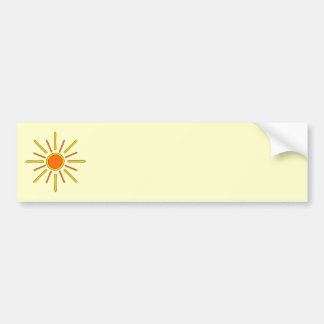Summer sun. Yellow and orange. Bumper Sticker