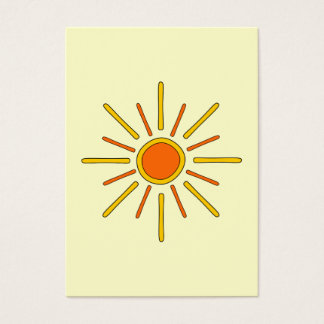 Summer sun. Yellow and orange. Business Card