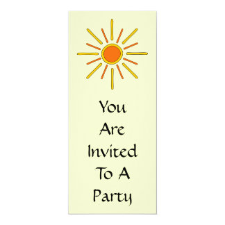 Summer sun. Yellow and orange. Card