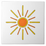 Summer sun. Yellow and orange. Ceramic Tiles