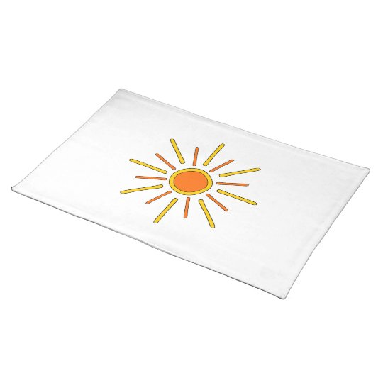 Summer sun. Yellow and orange. Cloth Placemat